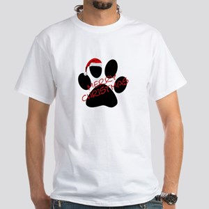 Cute Dog Paw Print White T-Shirt