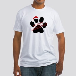 Cute Dog Paw Print Fitted T-Shirt