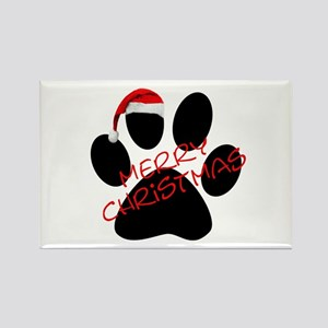 Cute Dog Paw Print Rectangle Magnet