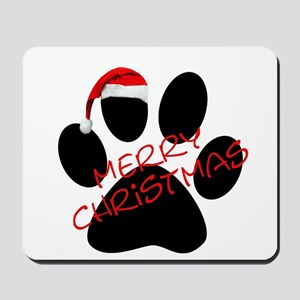 Cute Dog Paw Print Mousepad