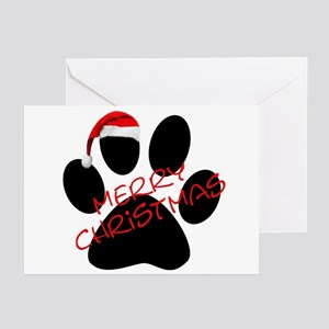 Cute Dog Paw Print Greeting Cards Pk Of 20