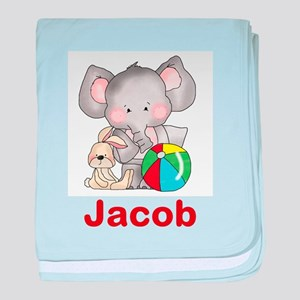 Jacob's Elephant Baby baby blanket