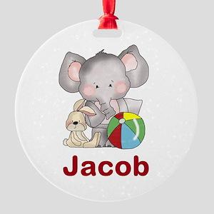 Jacob's Elephant Baby Round Ornament