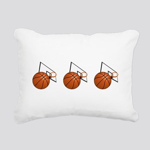 Basketball and Hoop Rectangular Canvas Pillow