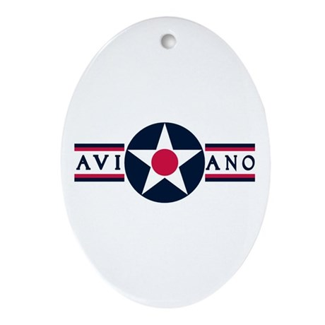 Aviano Air Base Oval Ornament