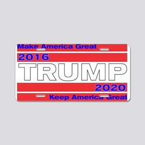 Trum 2016-2020 Make and Kee Aluminum License Plate