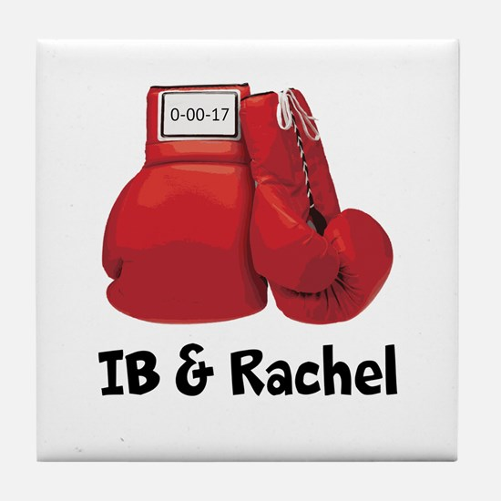 Boxing Gloves Tile Coaster