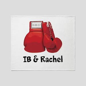 Boxing Gloves Throw Blanket
