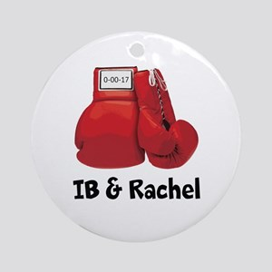Boxing Gloves Round Ornament
