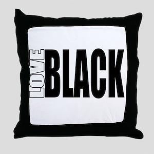 Love Black Throw Pillow
