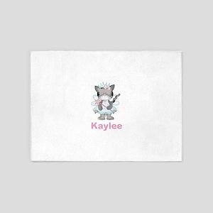 Kaylee's Fairy Kitten 5'x7'Area Rug