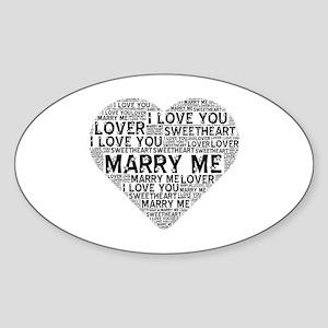 Marry Me Heart Sticker