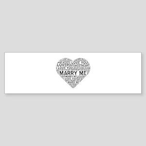 Marry Me Heart Bumper Sticker