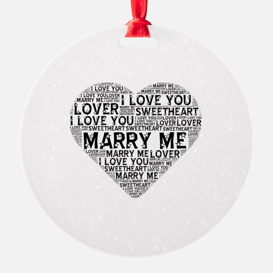 Marry Me Heart Ornament