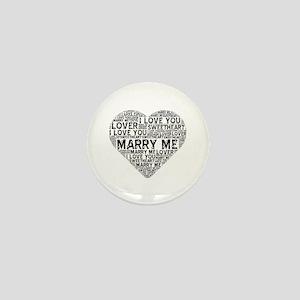 Marry Me Heart Mini Button