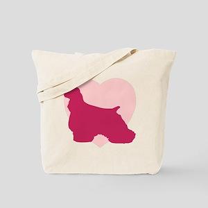 Cocker Spaniel Valentine's Day Tote Bag