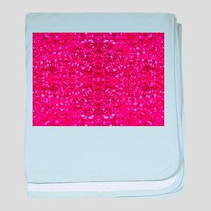 hot pink glitter baby blanket