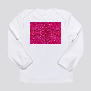 hot pink glitter Long Sleeve T-Shirt