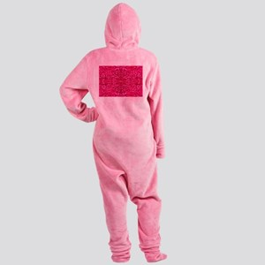 hot pink glitter Footed Pajamas