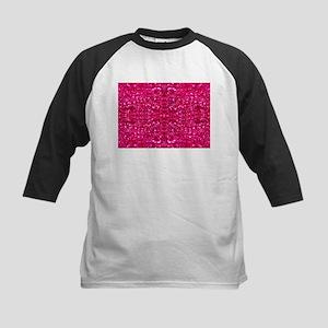 hot pink glitter Baseball Jersey