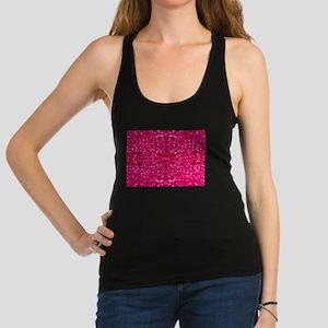 hot pink glitter Tank Top