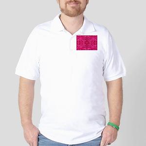 hot pink glitter Golf Shirt