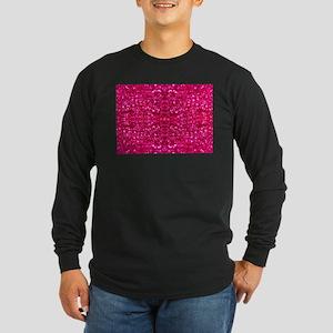 hot pink glitter Long Sleeve T-Shirt