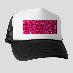 hot pink glitter Trucker Hat