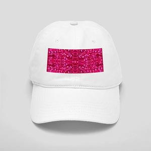 hot pink glitter Cap