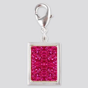 hot pink glitter Charms