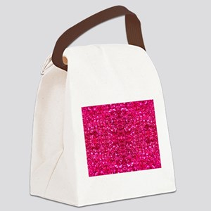 hot pink glitter Canvas Lunch Bag