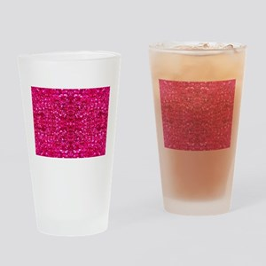 hot pink glitter Drinking Glass