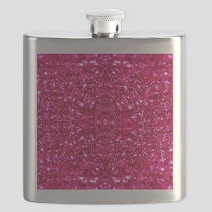 hot pink glitter Flask