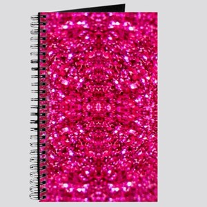hot pink glitter Journal