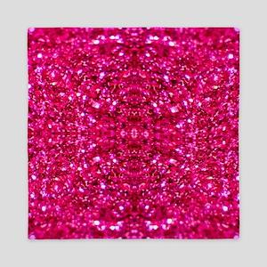 hot pink glitter Queen Duvet