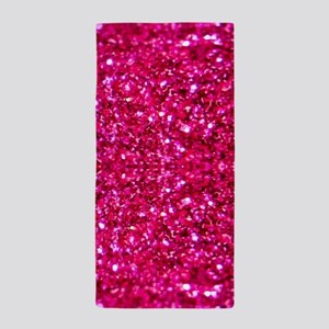 hot pink glitter Beach Towel