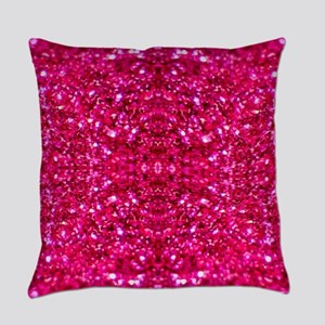 hot pink glitter Everyday Pillow