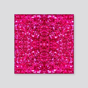 hot pink glitter Sticker