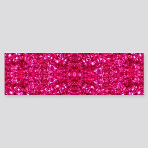 hot pink glitter Bumper Sticker