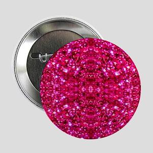 """hot pink glitter 2.25"""" Button"""