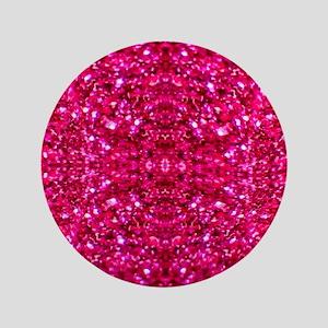 hot pink glitter Button