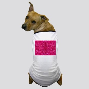 hot pink glitter Dog T-Shirt