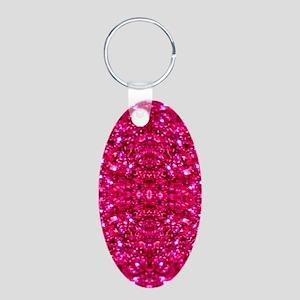 hot pink glitter Keychains