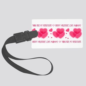 Heartbeat/mommy Large Luggage Tag