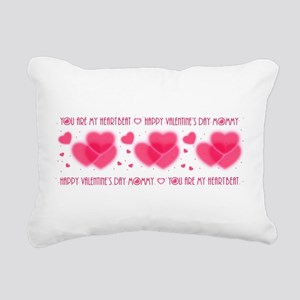 Heartbeat/mommy Rectangular Canvas Pillow