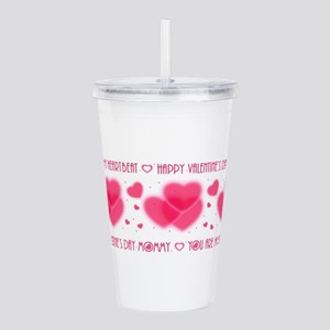 Heartbeat/mommy Acrylic Double-Wall Tumbler