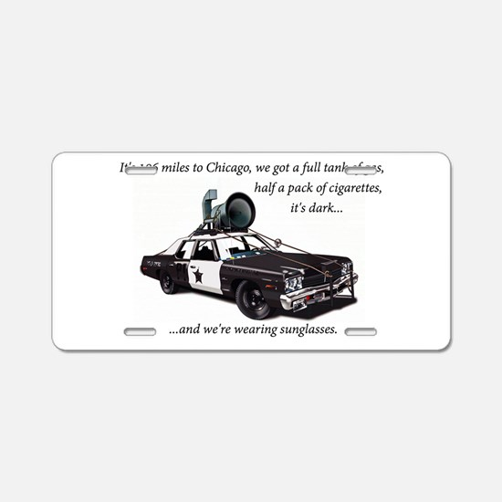 Bluesmobile Aluminum License Plate