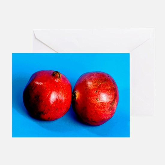 Unique Pomegranate Greeting Card