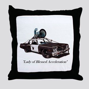 Bluesmobile Throw Pillow