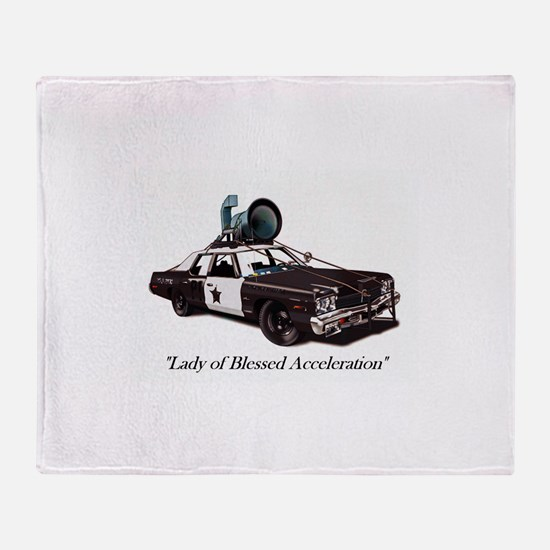 Bluesmobile Throw Blanket